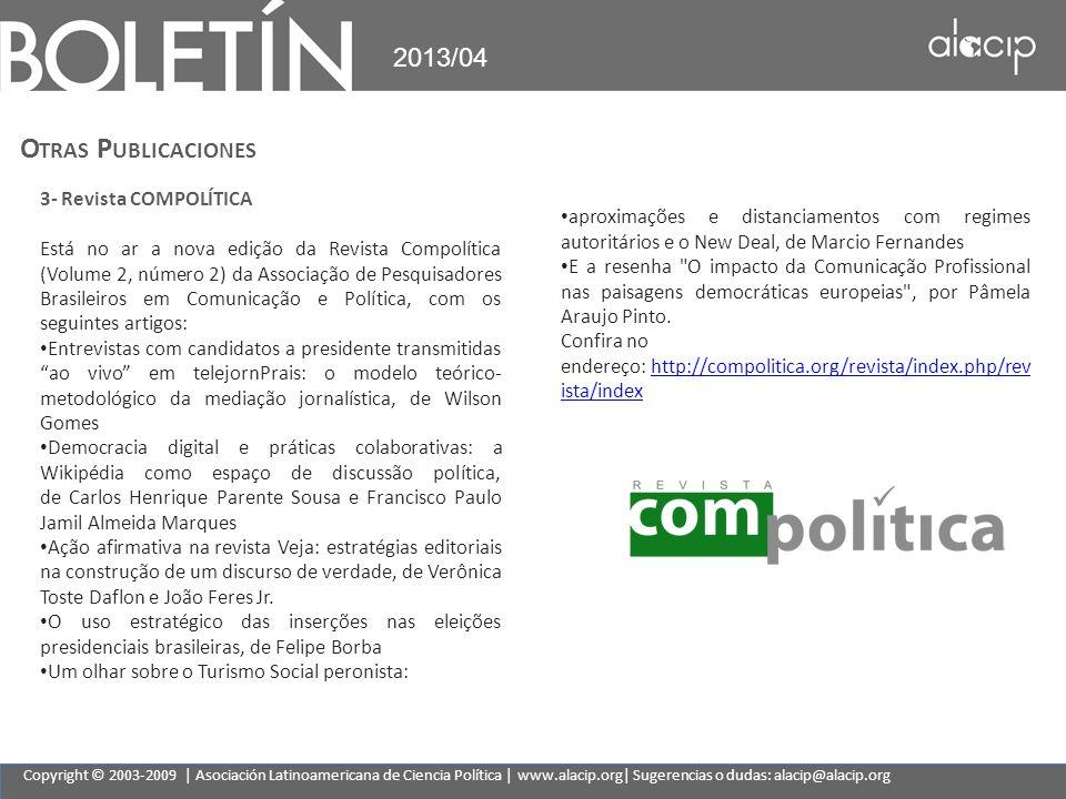 Otras Publicaciones 2013/04 3- Revista COMPOLÍTICA