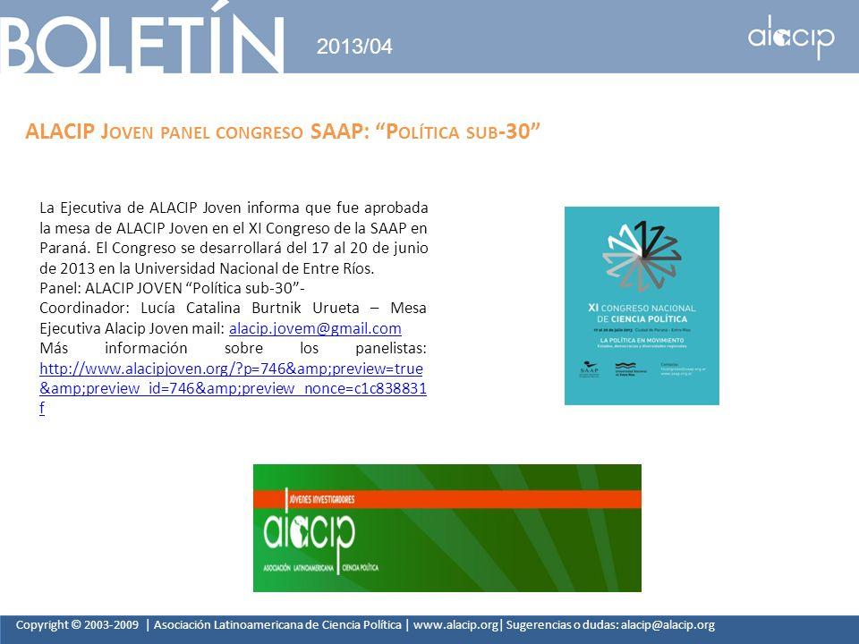 ALACIP Joven panel congreso SAAP: Política sub-30