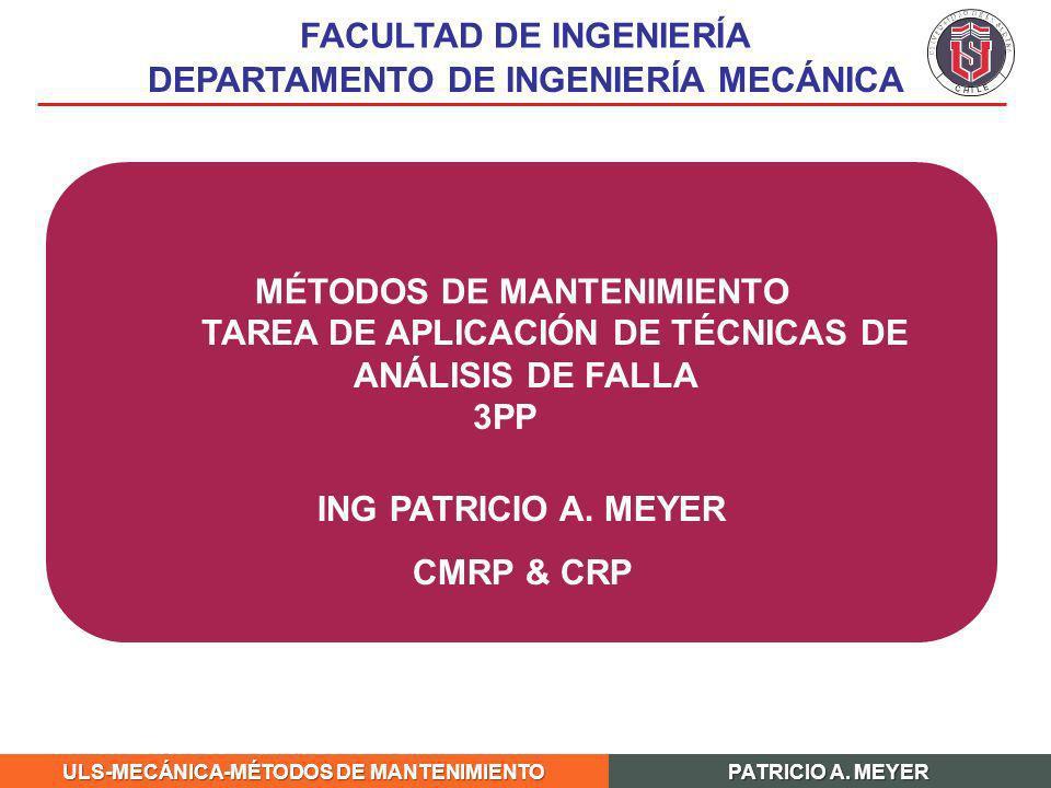 FACULTAD DE INGENIERÍA DEPARTAMENTO DE INGENIERÍA MECÁNICA