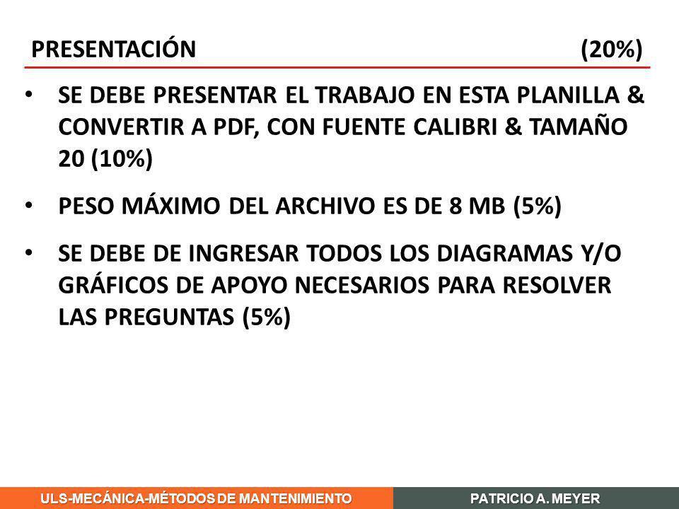 PRESENTACIÓN (20%)