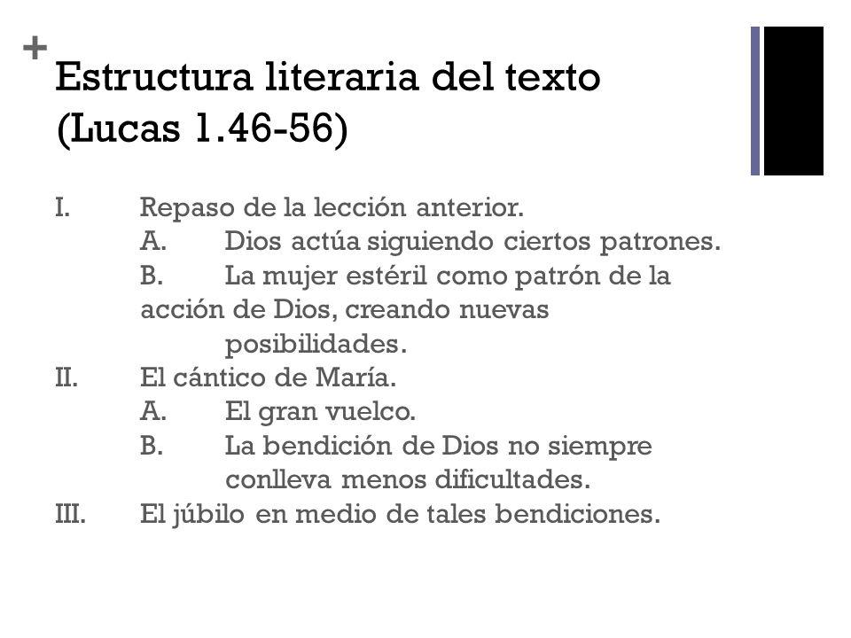 Estructura literaria del texto (Lucas 1.46-56)