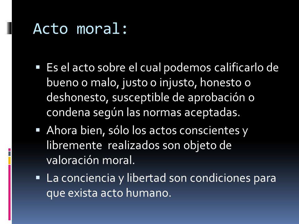 Acto moral: