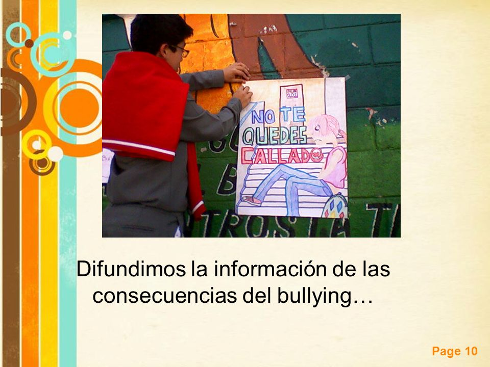 Difundimos la información de las consecuencias del bullying…