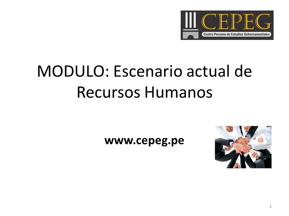 MODULO: Escenario actual de Recursos Humanos