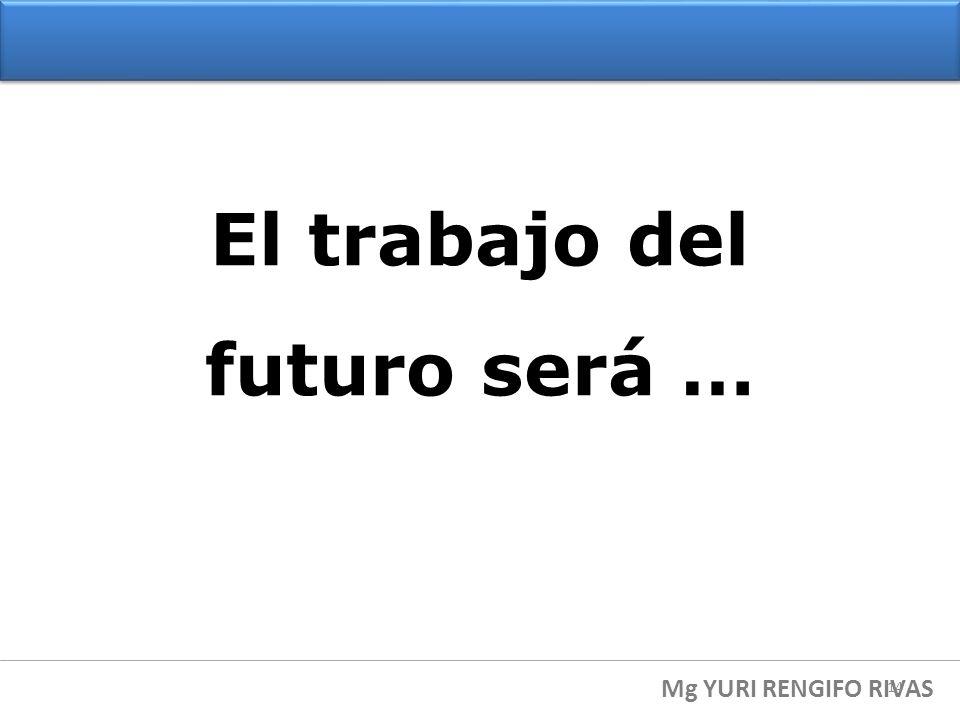 El trabajo del futuro será …