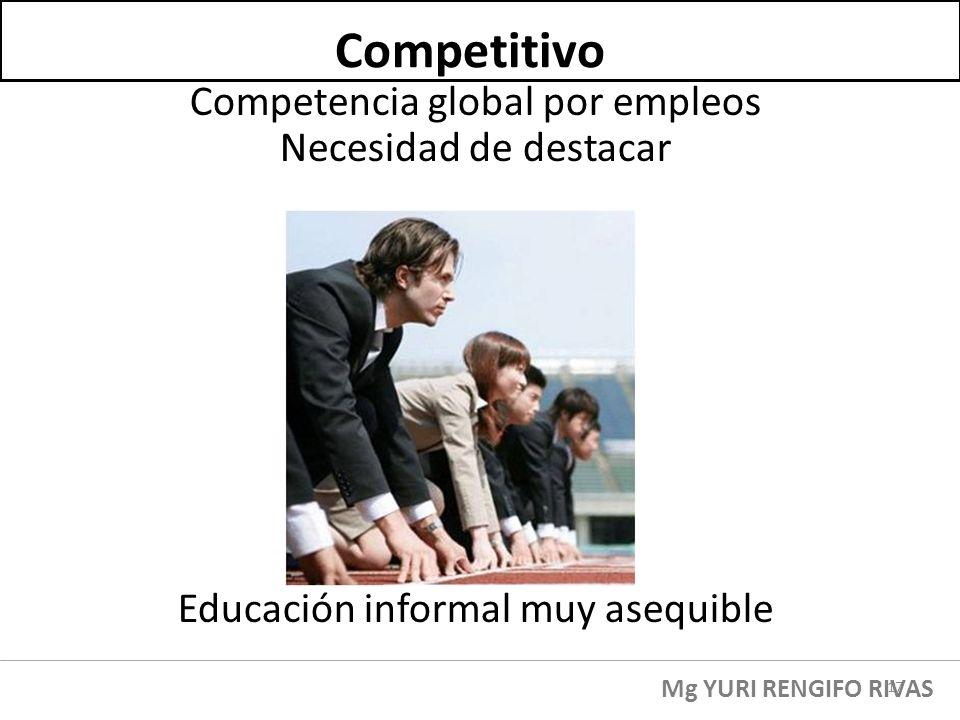 Competitivo Competencia global por empleos Necesidad de destacar