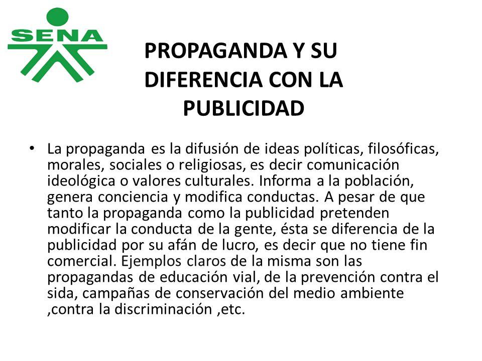 PROPAGANDA Y SU DIFERENCIA CON LA PUBLICIDAD