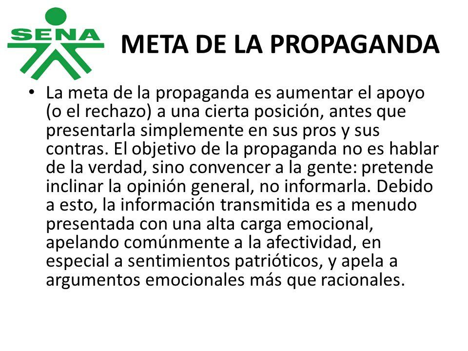 META DE LA PROPAGANDA
