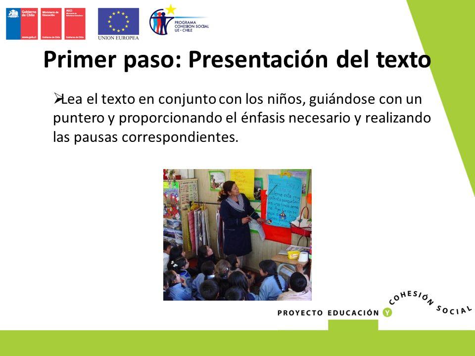 Primer paso: Presentación del texto