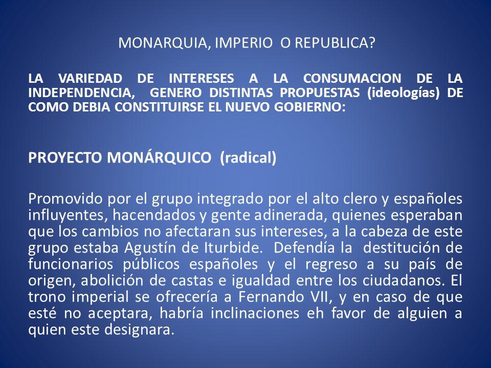 MONARQUIA, IMPERIO O REPUBLICA