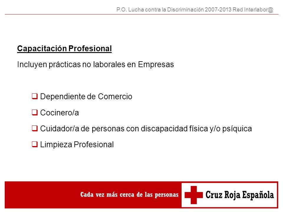 Capacitación Profesional Incluyen prácticas no laborales en Empresas