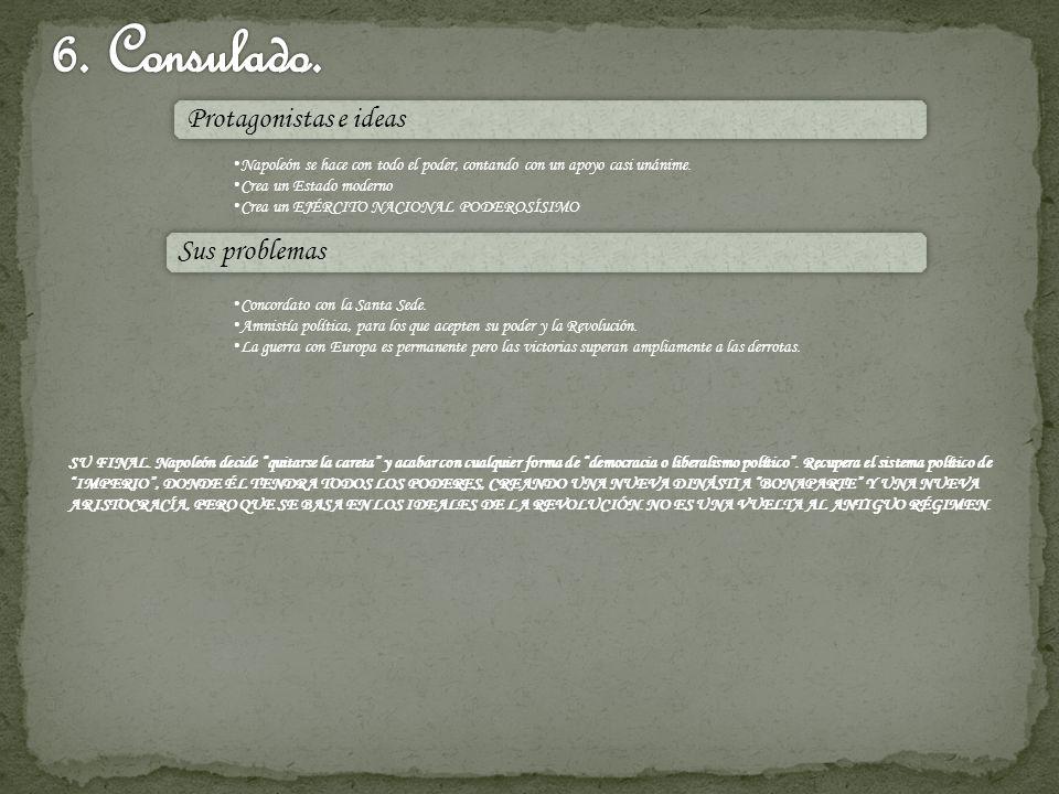 6. Consulado. Protagonistas e ideas Sus problemas