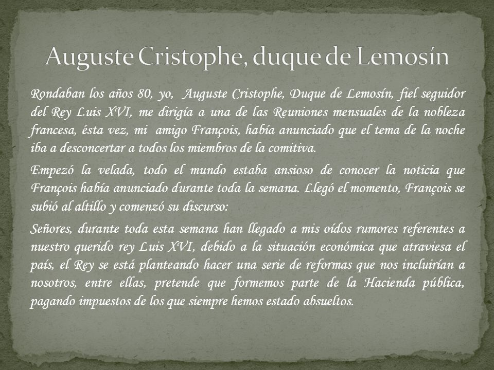 Auguste Cristophe, duque de Lemosín