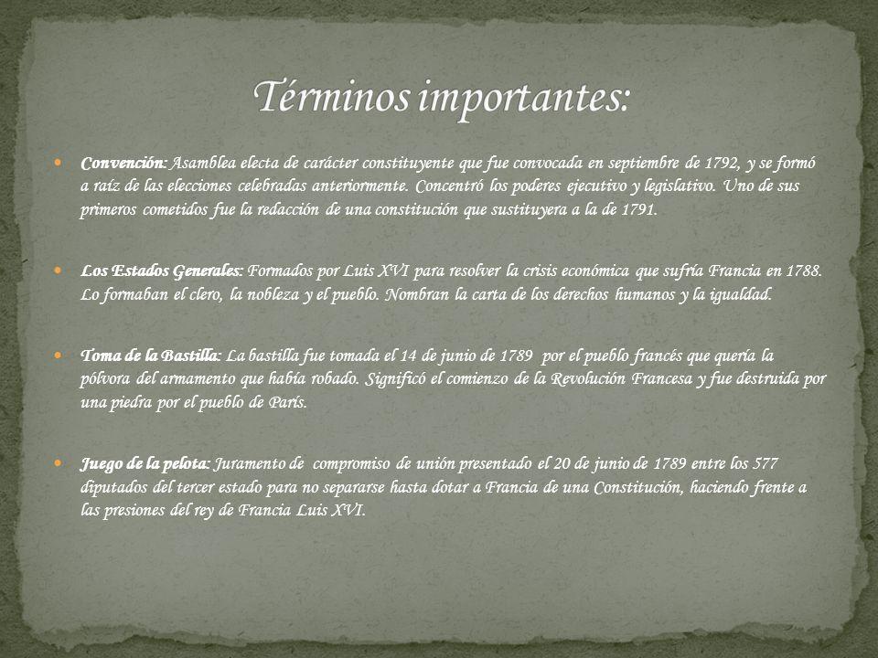 Términos importantes: