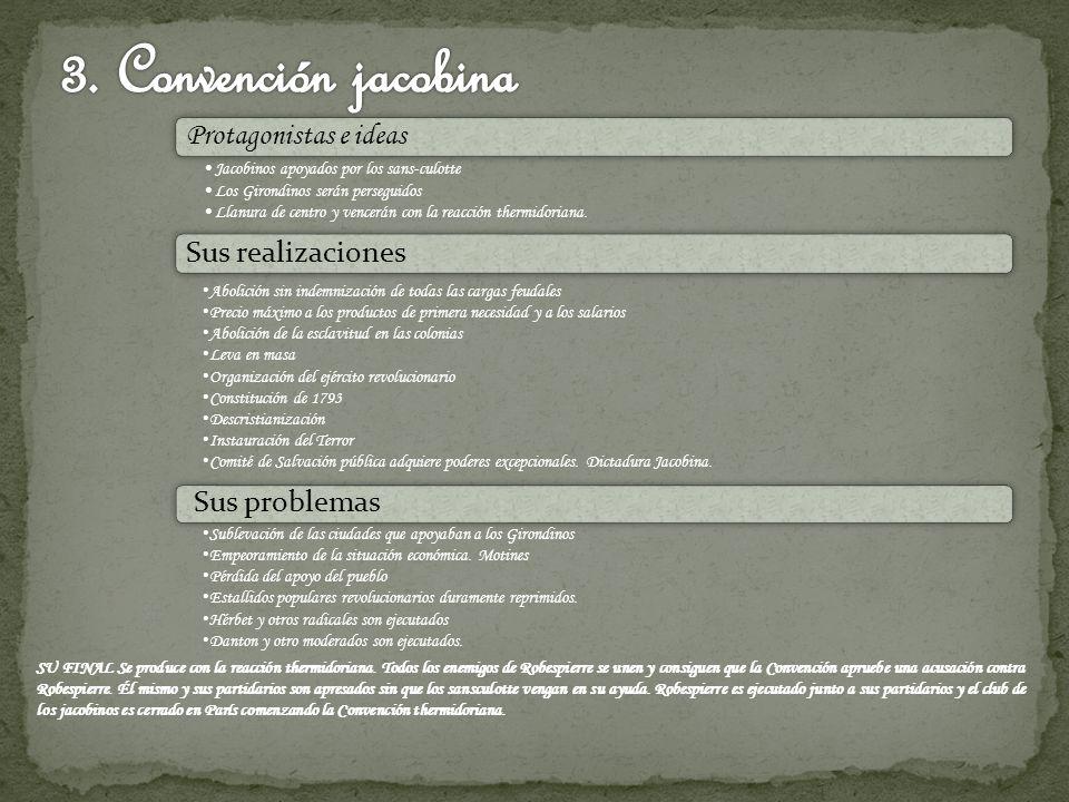 3. Convención jacobina Protagonistas e ideas Sus realizaciones