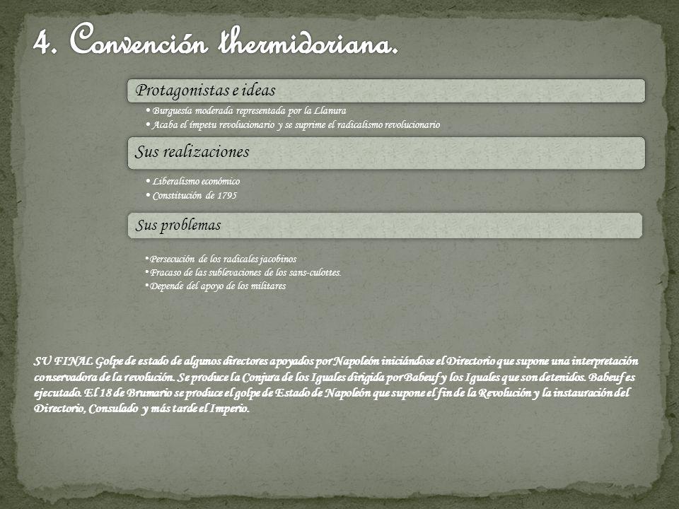 4. Convención thermidoriana.