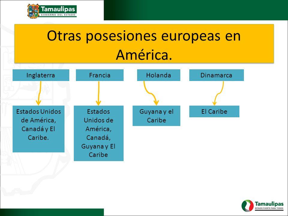 Otras posesiones europeas en América.