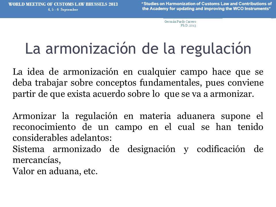La armonización de la regulación