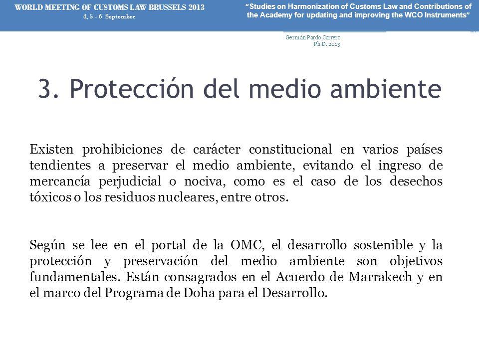 3. Protección del medio ambiente