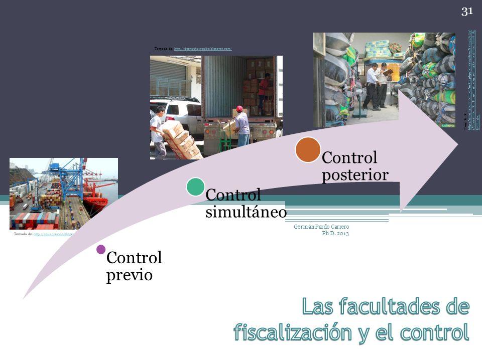 Las facultades de fiscalización y el control