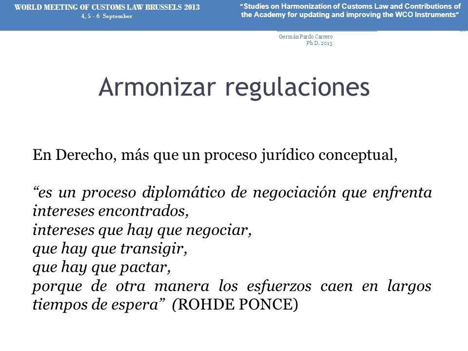 Armonizar regulaciones
