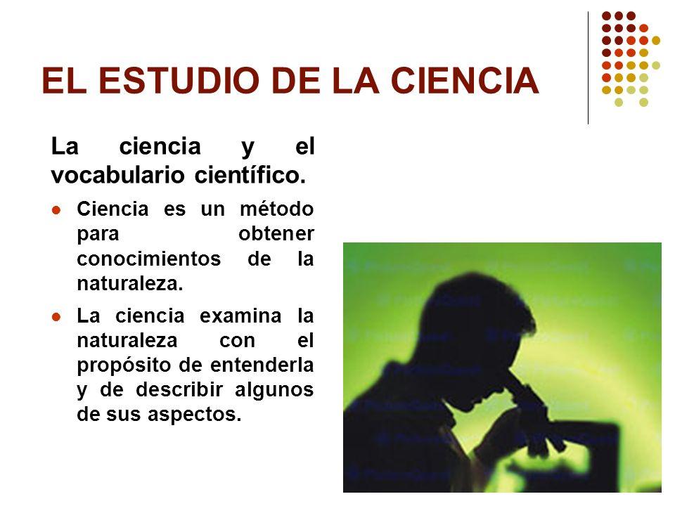 EL ESTUDIO DE LA CIENCIA
