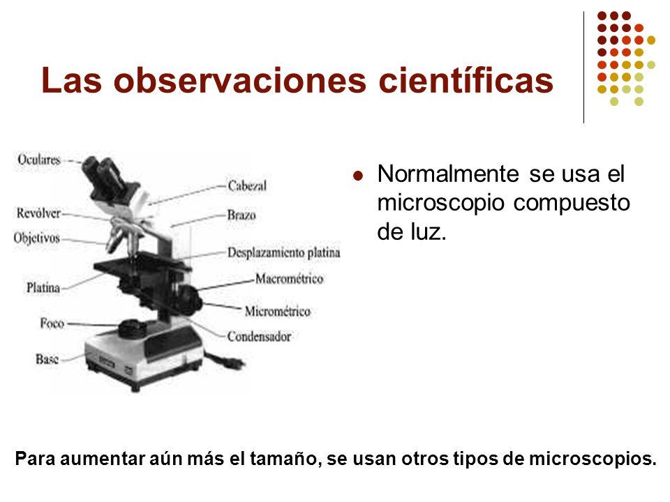 Las observaciones científicas