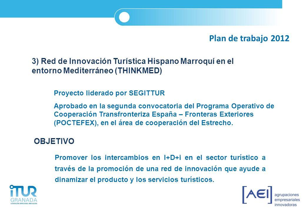 Plan de trabajo 2012 3) Red de Innovación Turística Hispano Marroquí en el entorno Mediterráneo (THINKMED)