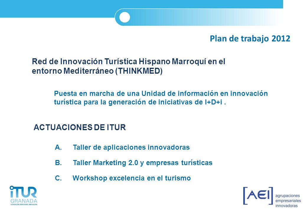 Plan de trabajo 2012 Red de Innovación Turística Hispano Marroquí en el entorno Mediterráneo (THINKMED)