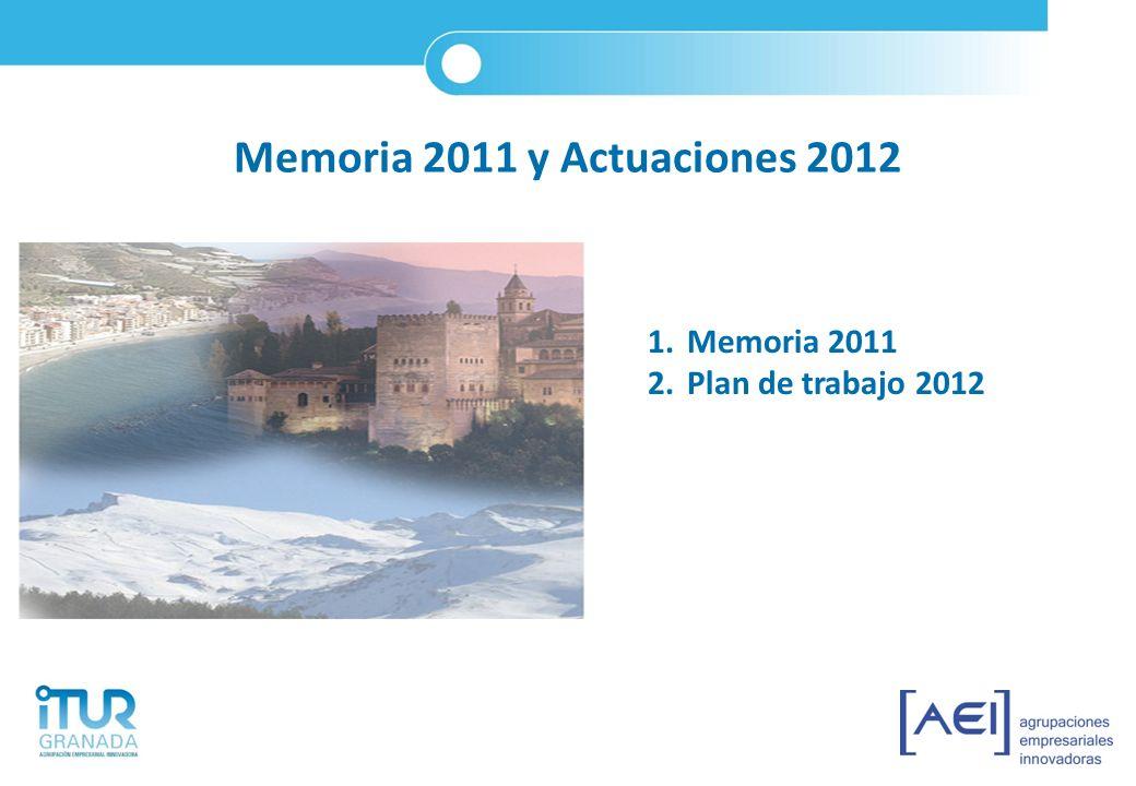Memoria 2011 y Actuaciones 2012 Memoria 2011 Plan de trabajo 2012