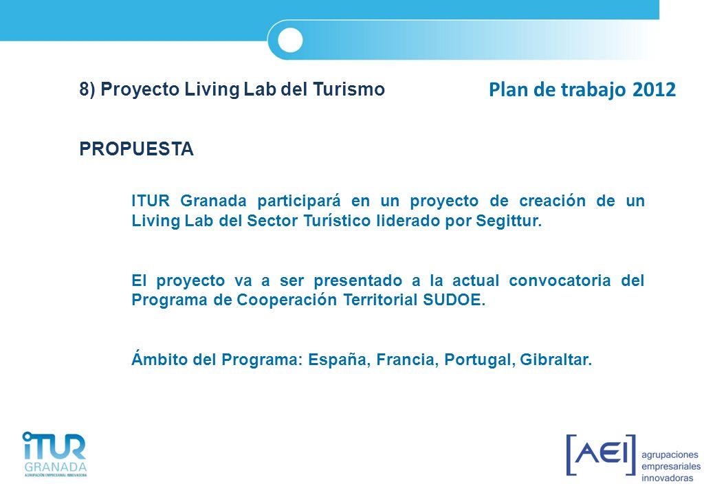 Plan de trabajo 2012 8) Proyecto Living Lab del Turismo PROPUESTA