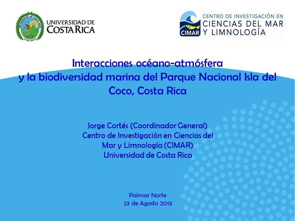 Interacciones océano-atmósfera y la biodiversidad marina del Parque Nacional Isla del Coco, Costa Rica
