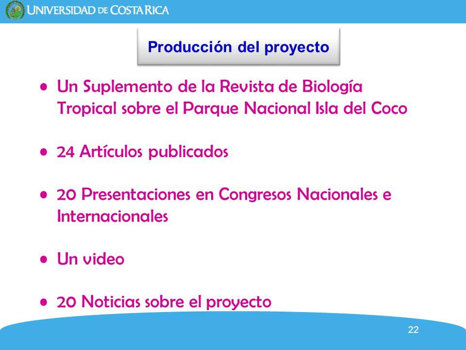 Producción del proyecto