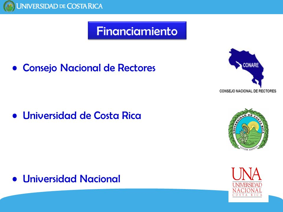 Financiamiento Consejo Nacional de Rectores Universidad de Costa Rica