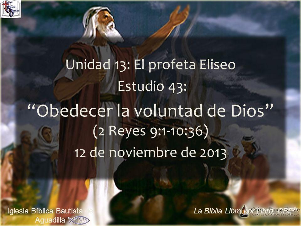 Obedecer la voluntad de Dios (2 Reyes 9:1-10:36)