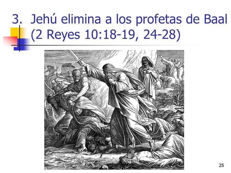 Jehú elimina a los profetas de Baal (2 Reyes 10:18-19, 24-28)