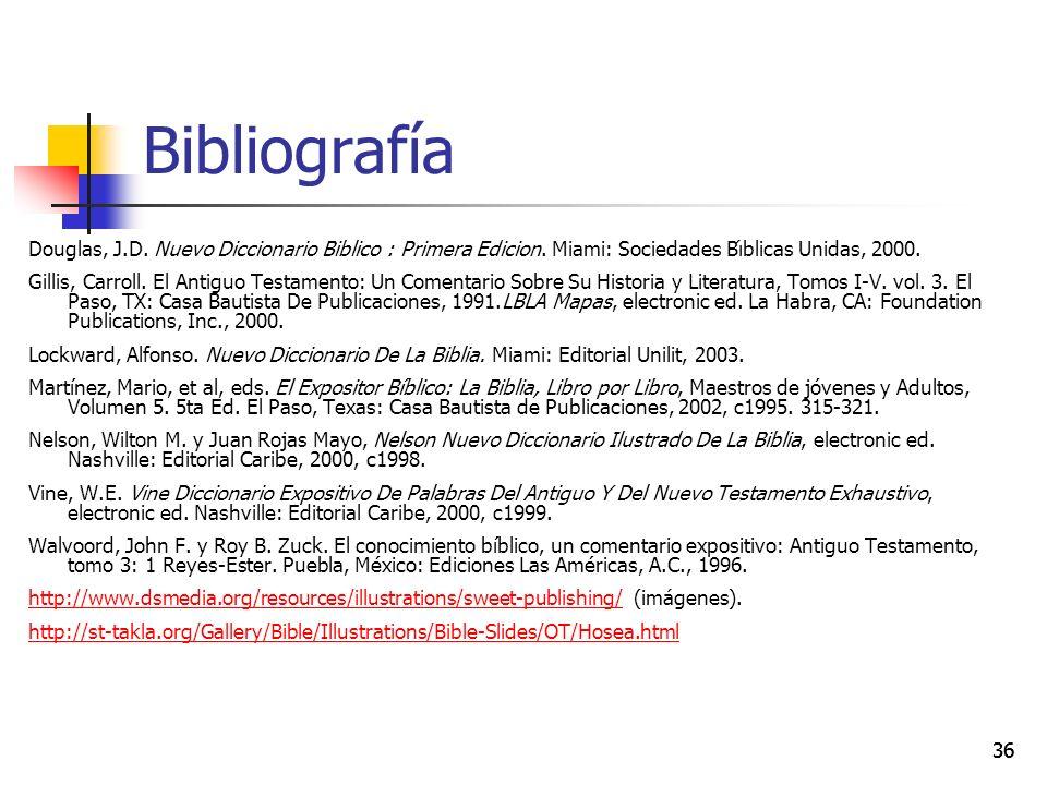 Bibliografía Douglas, J.D. Nuevo Diccionario Biblico : Primera Edicion. Miami: Sociedades Bı́blicas Unidas, 2000.