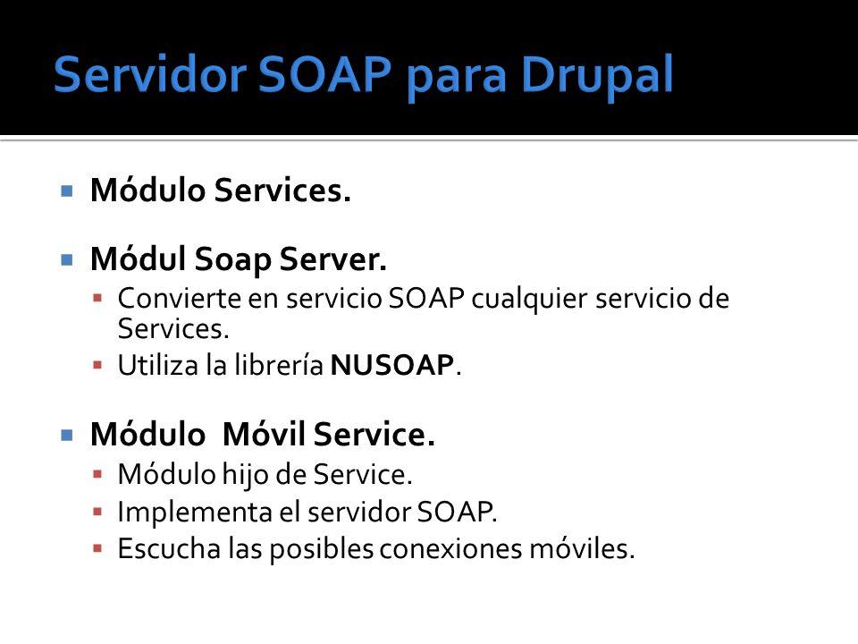 Servidor SOAP para Drupal