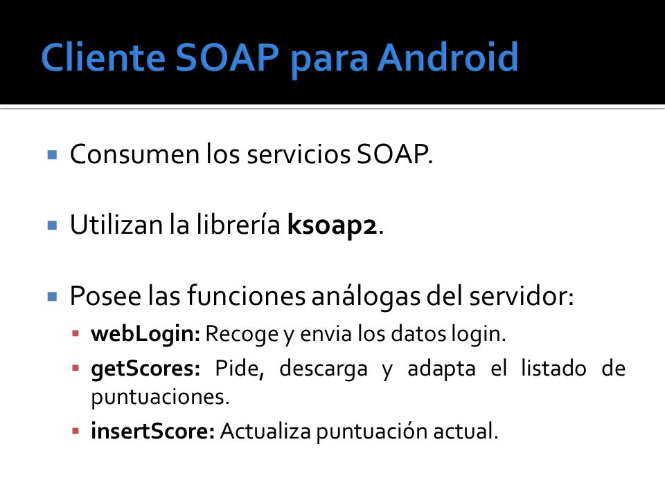 Cliente SOAP para Android