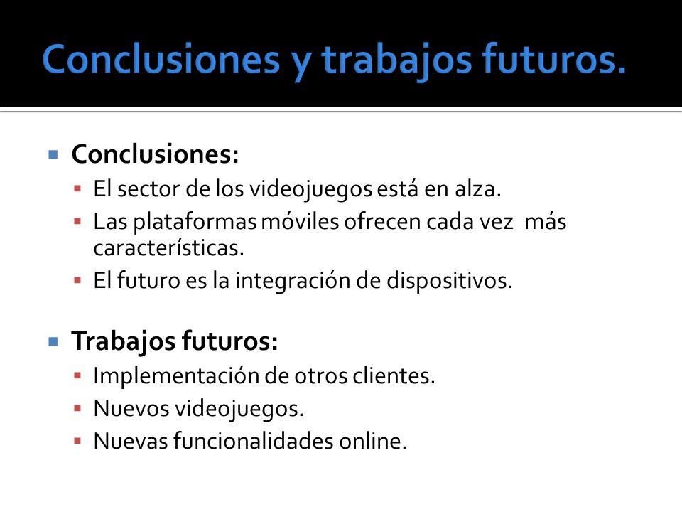 Conclusiones y trabajos futuros.