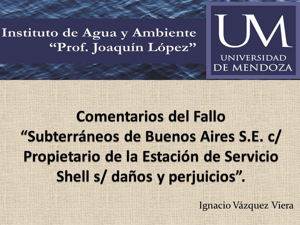 Comentarios del Fallo Subterráneos de Buenos Aires S. E