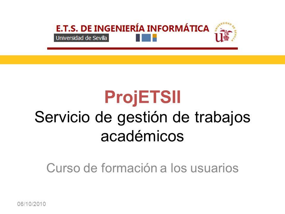 ProjETSII Servicio de gestión de trabajos académicos
