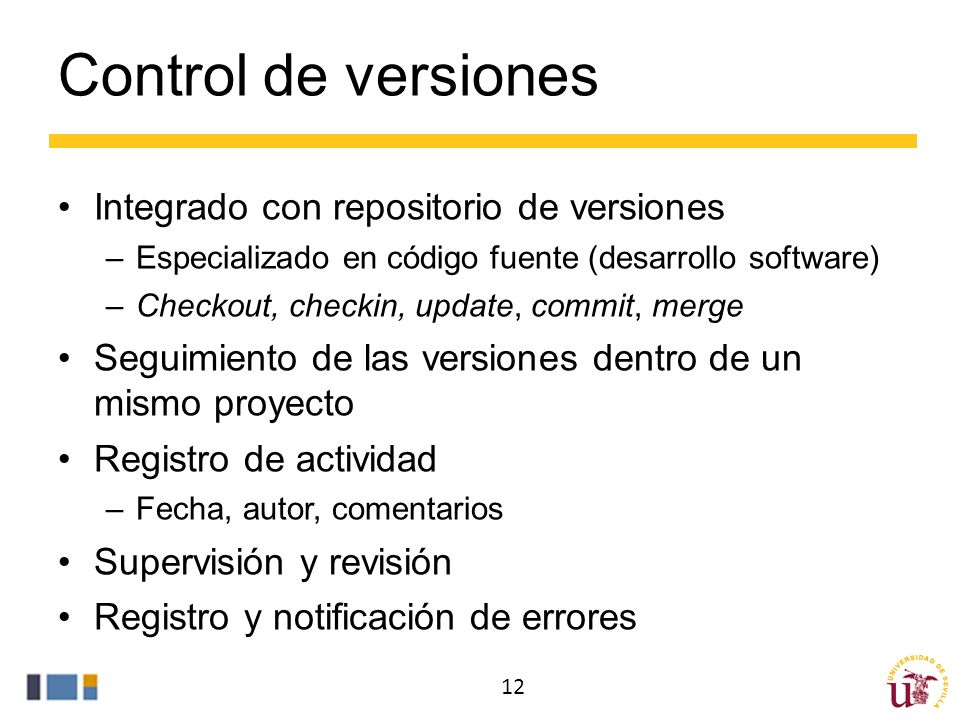 Control de versiones Integrado con repositorio de versiones