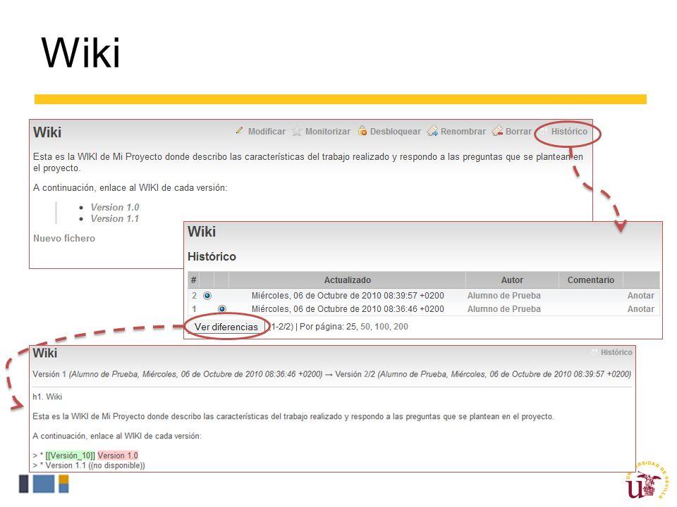 Wiki ProjETSII permite editar WIKIS para preservar el conocimiento del proyecto o crear FAQS.