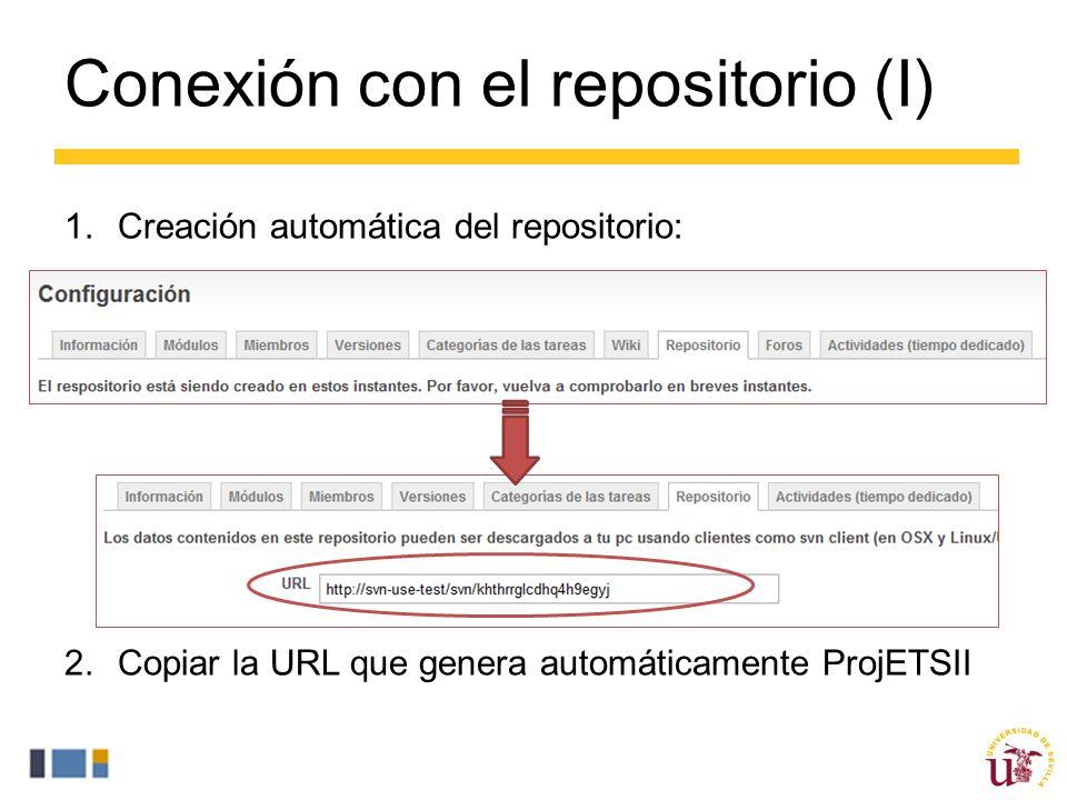 Conexión con el repositorio (I)