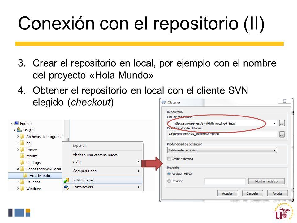 Conexión con el repositorio (II)