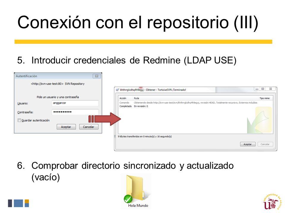 Conexión con el repositorio (III)