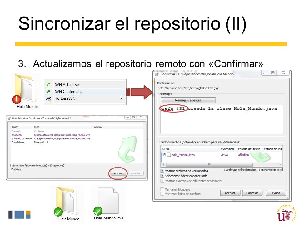 Sincronizar el repositorio (II)