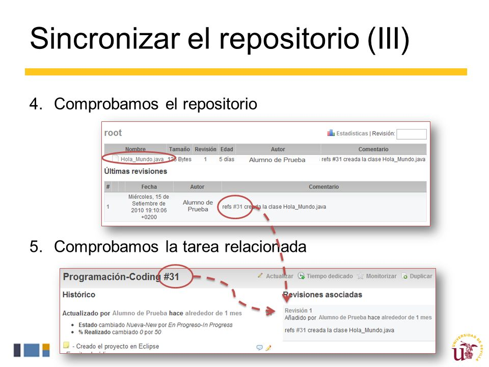 Sincronizar el repositorio (III)