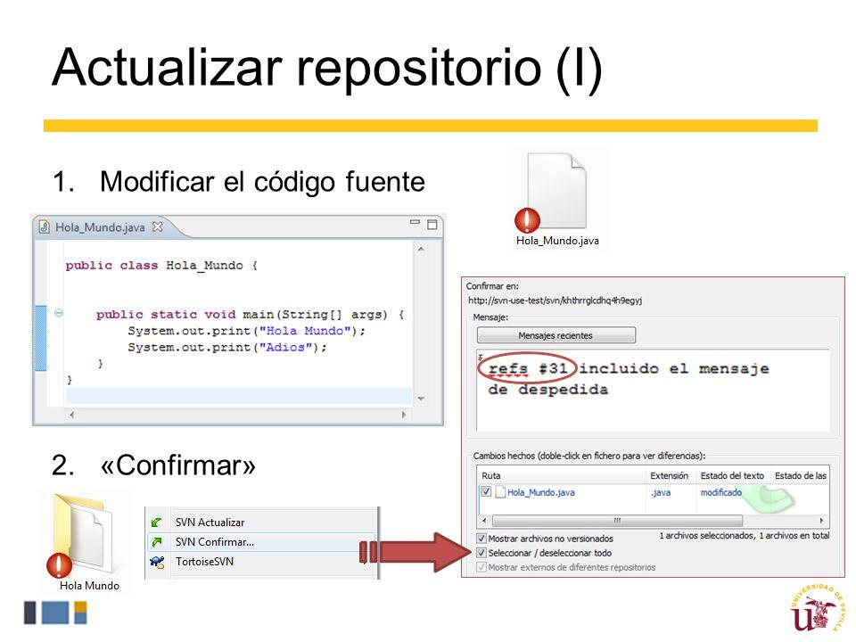 Actualizar repositorio (I)